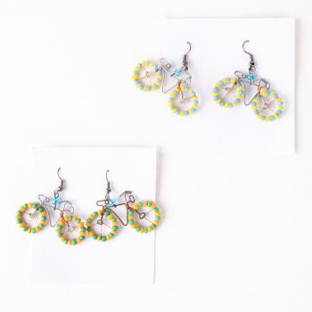 Beaded bicycle earrings | TradeAid