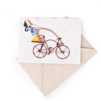 Cake on bicycle card | TradeAid