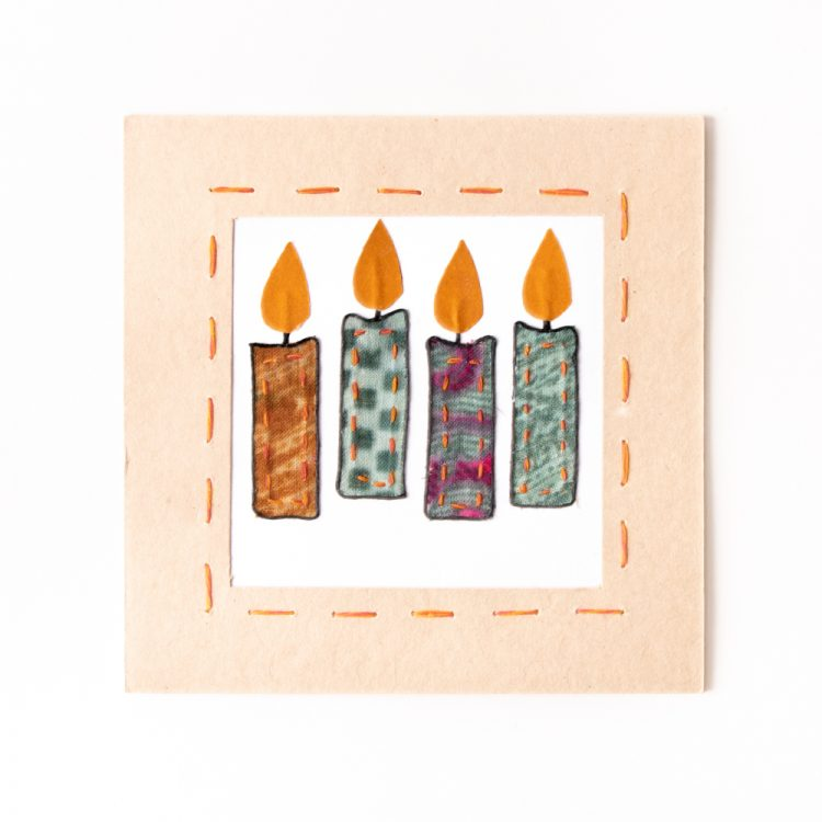 Sari candles card   TradeAid