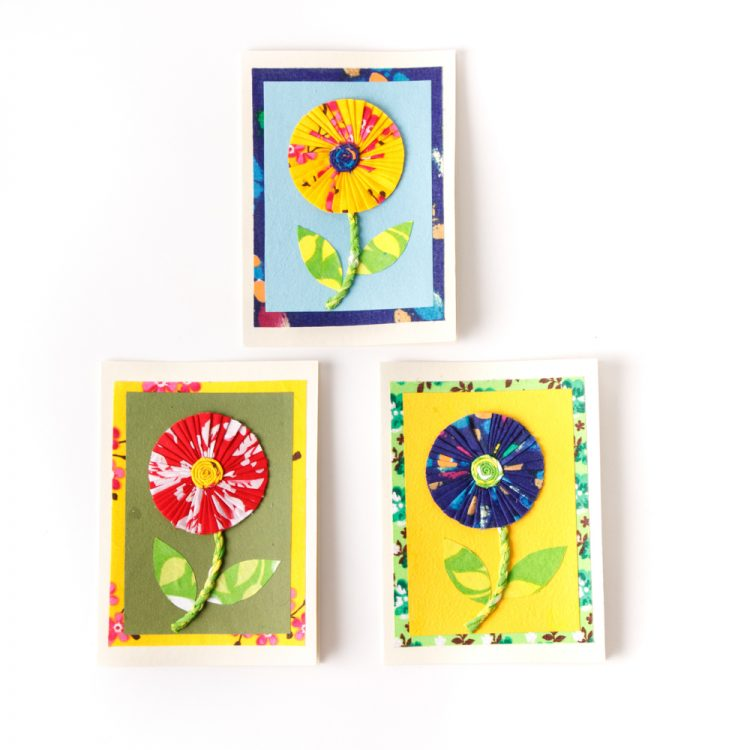 Sari sunflower card | Gallery 1 | TradeAid