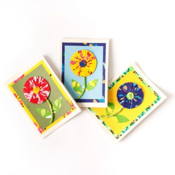 Sari sunflower card | TradeAid