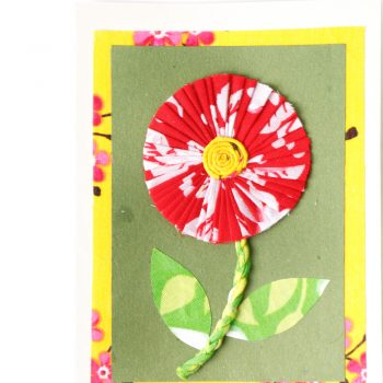 Sari sunflower card | Gallery 2 | TradeAid