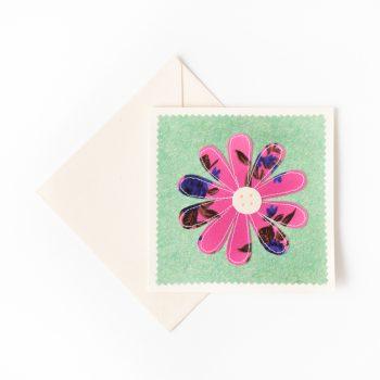 Sari daisy card | TradeAid
