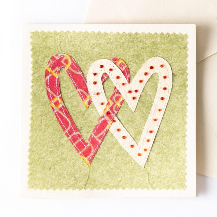 Sari heart card | Gallery 1 | TradeAid