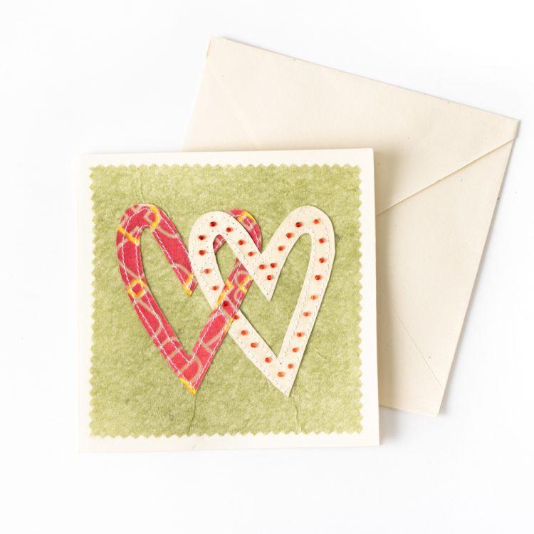 Sari heart card | TradeAid
