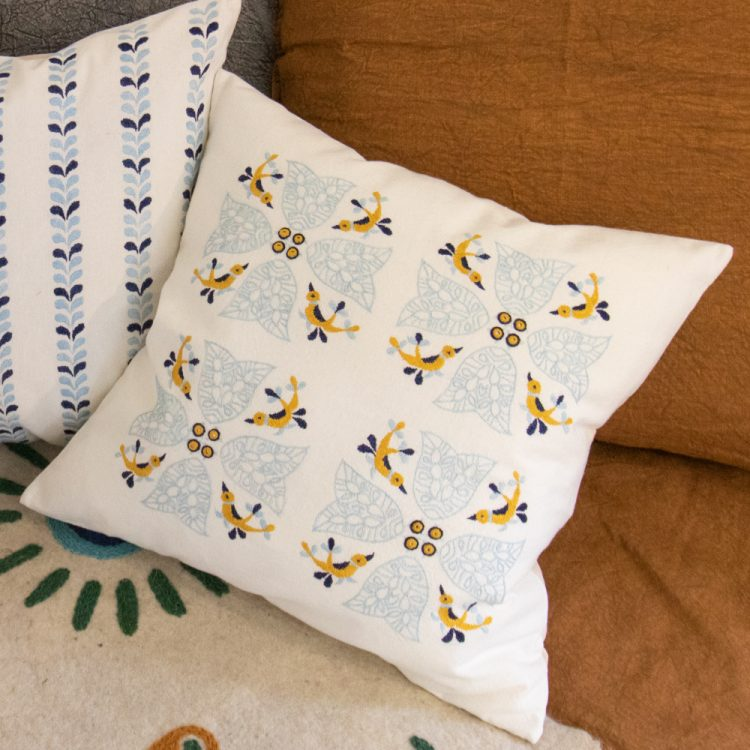 Exotic bird cushion cover | TradeAid