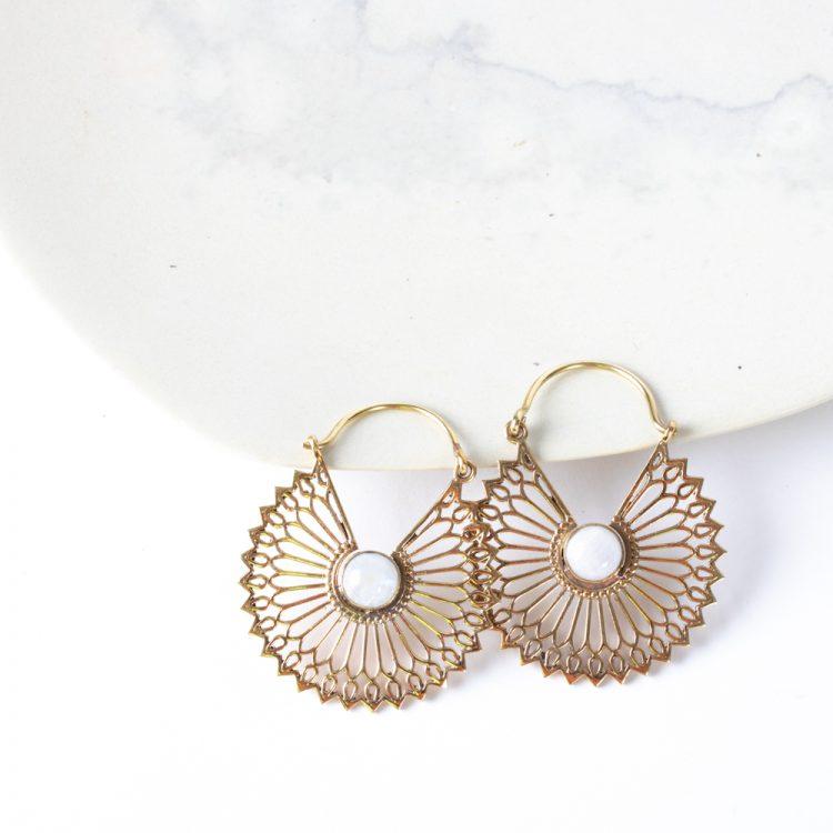 Sunflower earrings   TradeAid