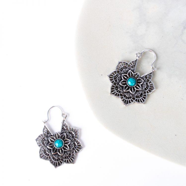 Lotus earrings   Gallery 1   TradeAid