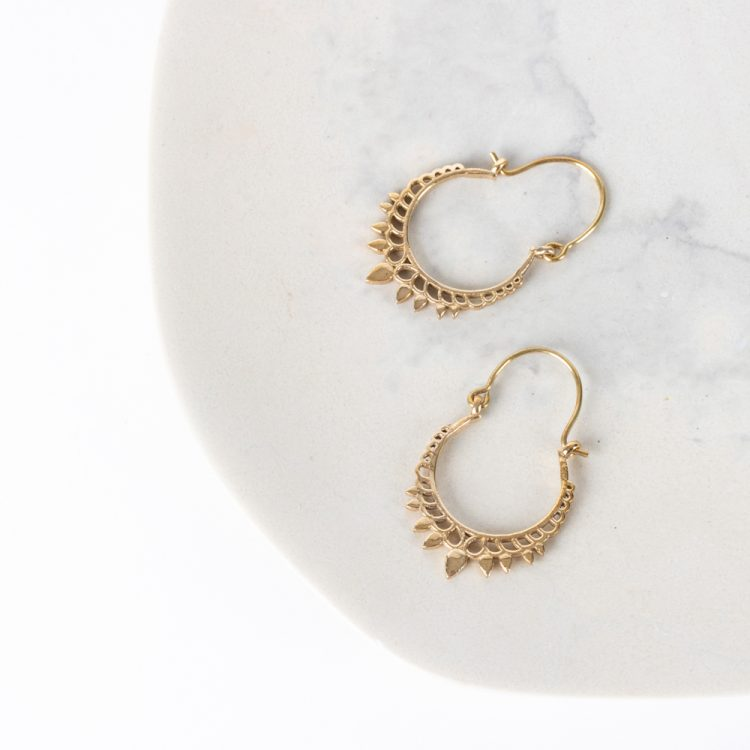 Jali crown earrings | TradeAid