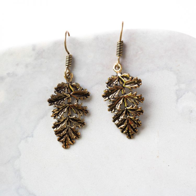 Antique leaf earrings | TradeAid