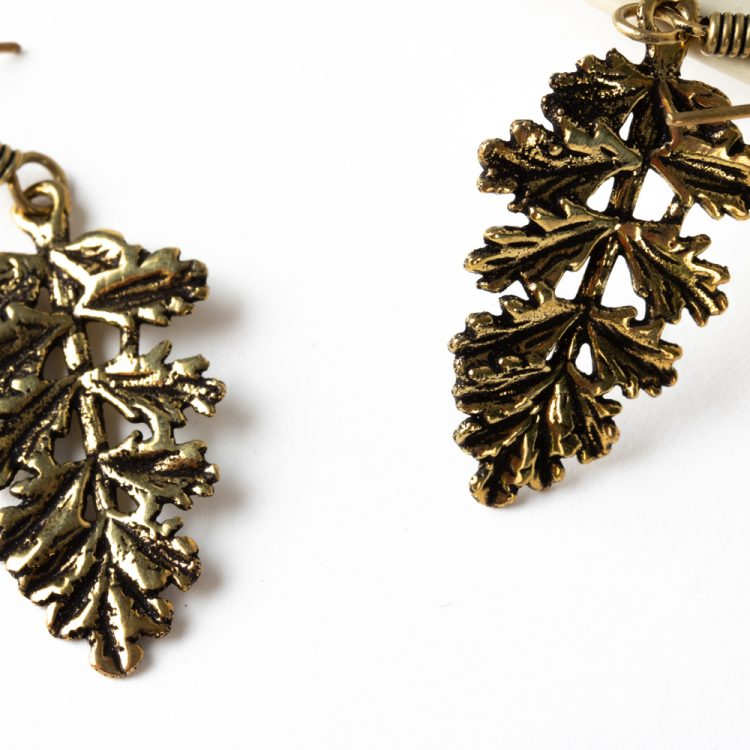 Antique leaf earrings | Gallery 2 | TradeAid