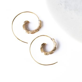 Spiral leaf earrings | TradeAid