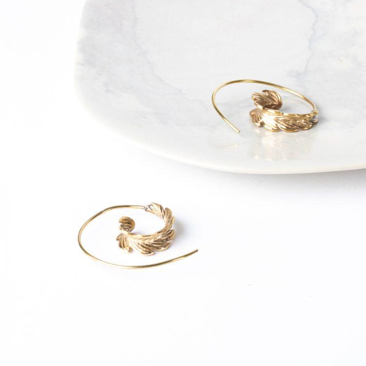 Spiral leaf earrings | Gallery 1 | TradeAid