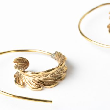 Spiral leaf earrings | Gallery 2 | TradeAid
