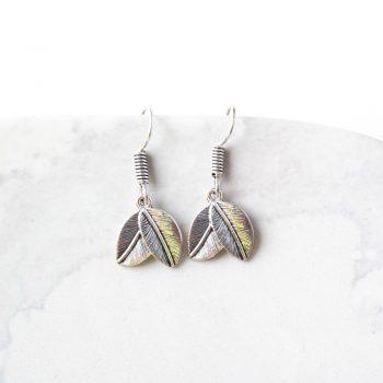Silver leaves earrings | TradeAid