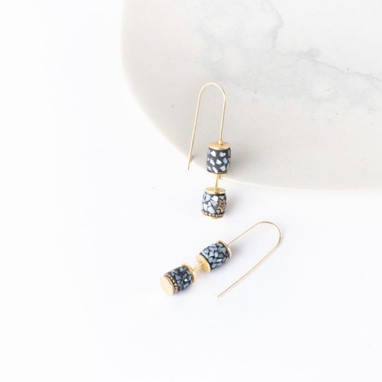 Long hook mosaic earrings | Gallery 1 | TradeAid