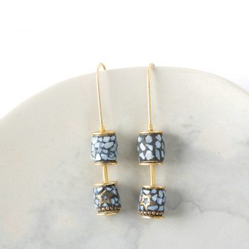 Long hook mosaic earrings | TradeAid