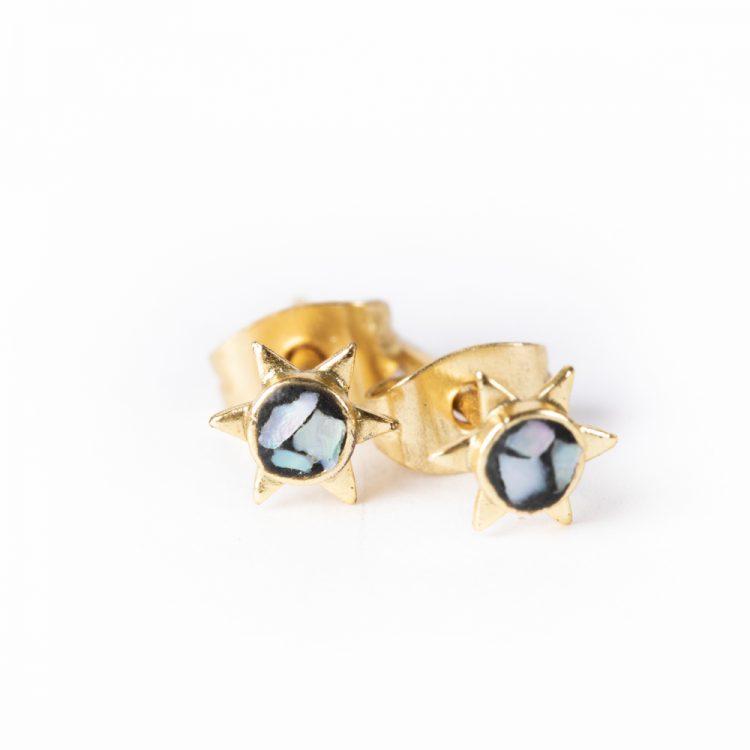 Mosaic stud earrings   TradeAid