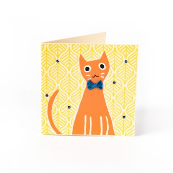 Cat with a bow card | TradeAid