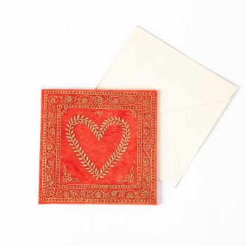 Red and gold heart card | TradeAid