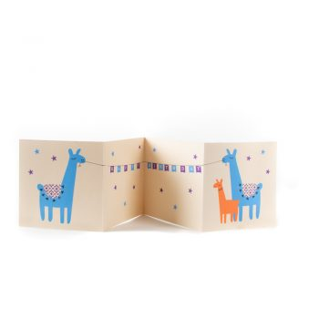 Llama 3fold birthday card | TradeAid