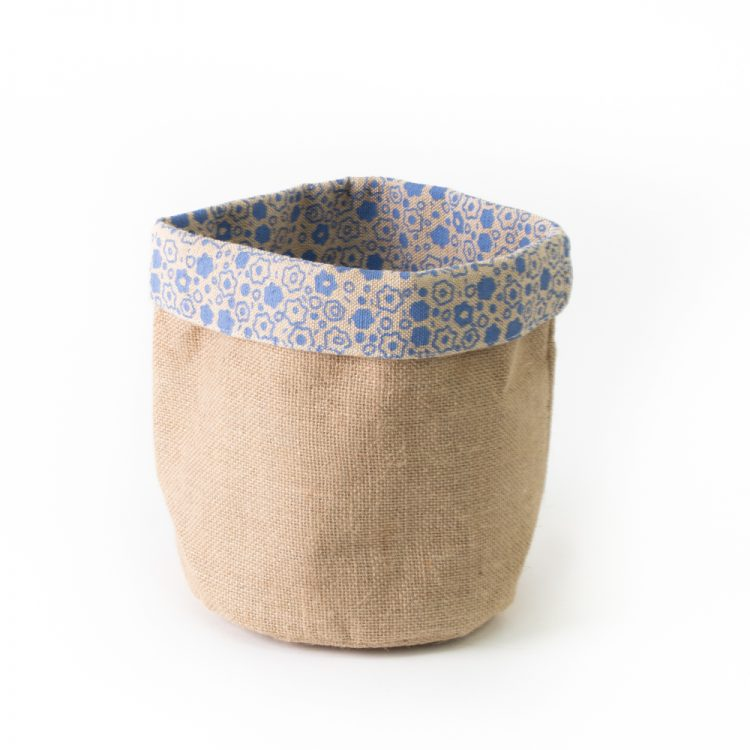 Floral jute basket small | TradeAid