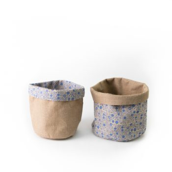 Floral jute basket small | Gallery 1 | TradeAid