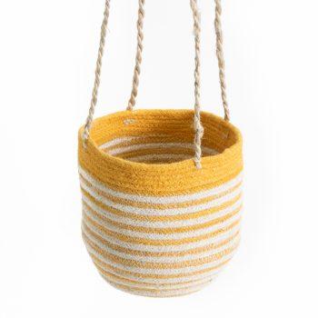 Yellow sika hanging basket | TradeAid