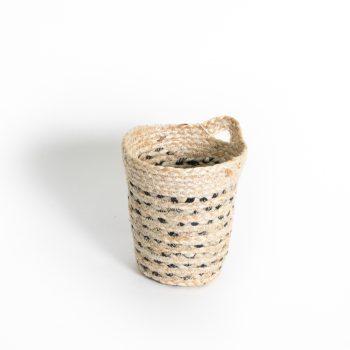 Black striped hanging basket | TradeAid