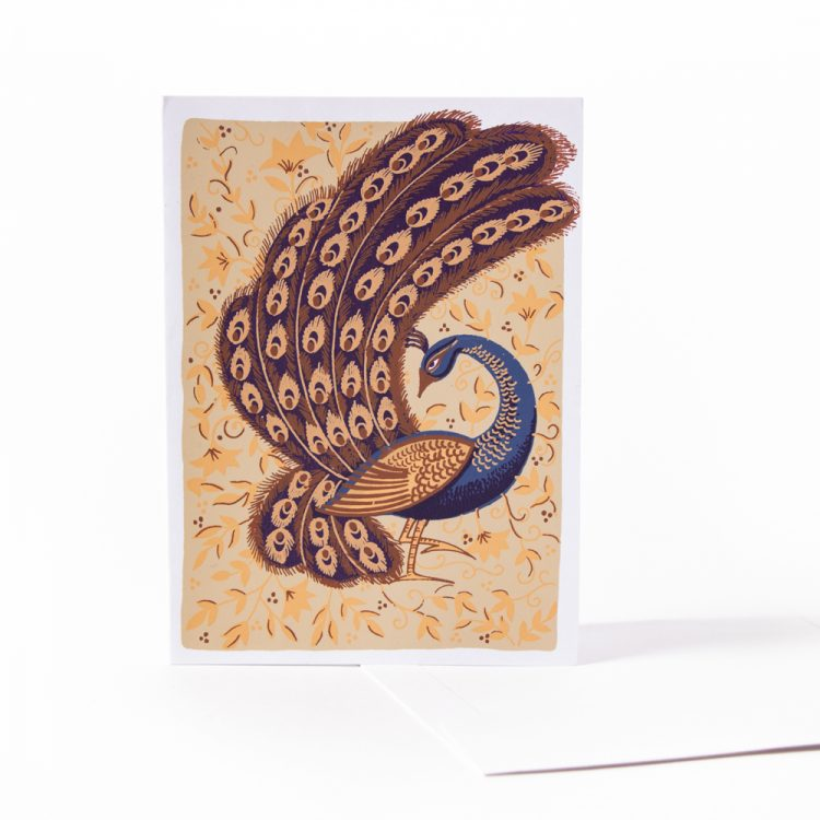 Peacock in the park card | TradeAid