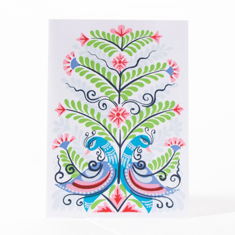 Peacock tree of life card | Gallery 1 | TradeAid