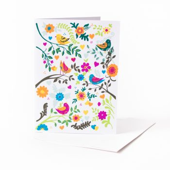 Birds in the garden card | TradeAid