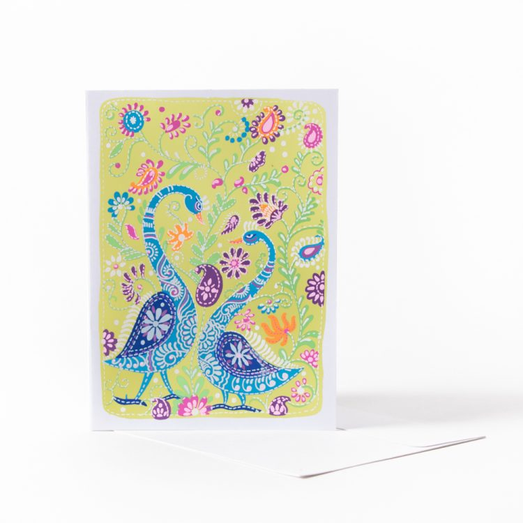 Swans in the garden card | TradeAid