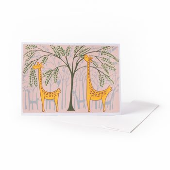 Hungry giraffe card | TradeAid