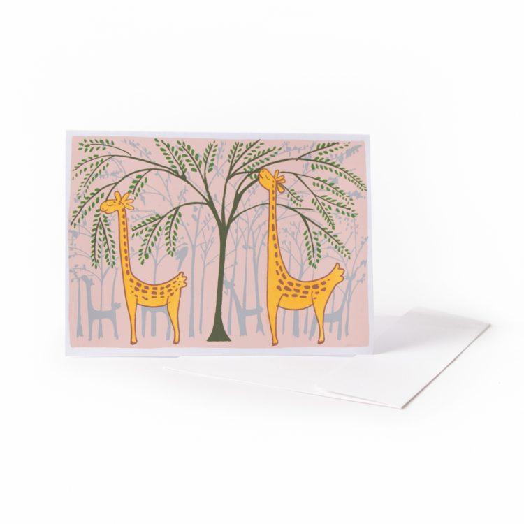 Hungry giraffe card | TradeAid