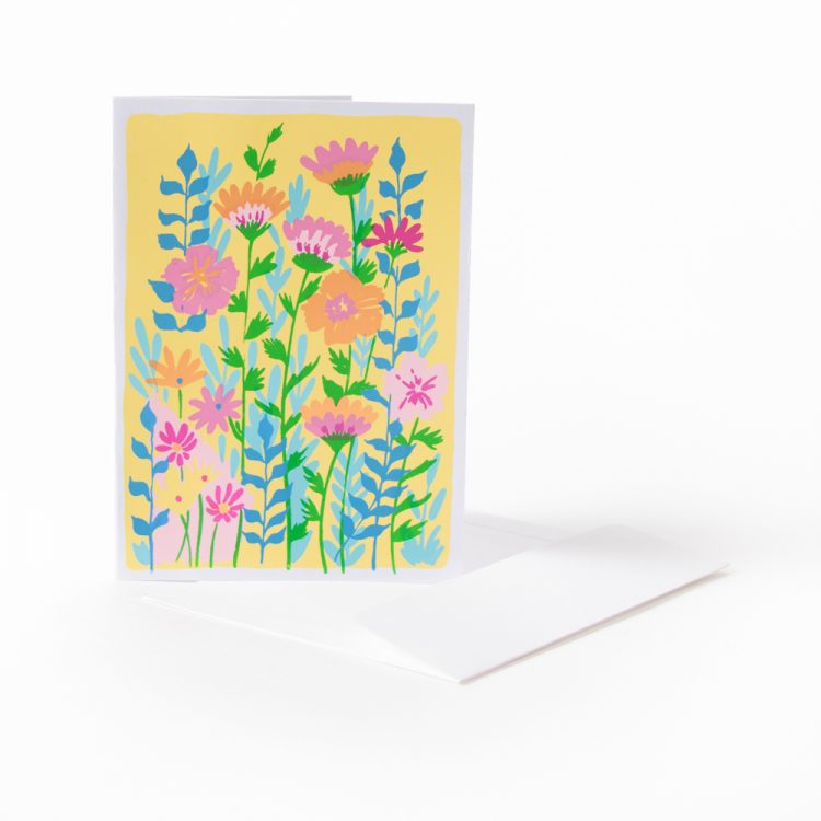 Vibrant flower card | TradeAid