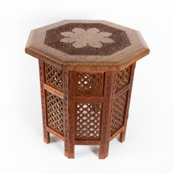 Carved brass table | TradeAid