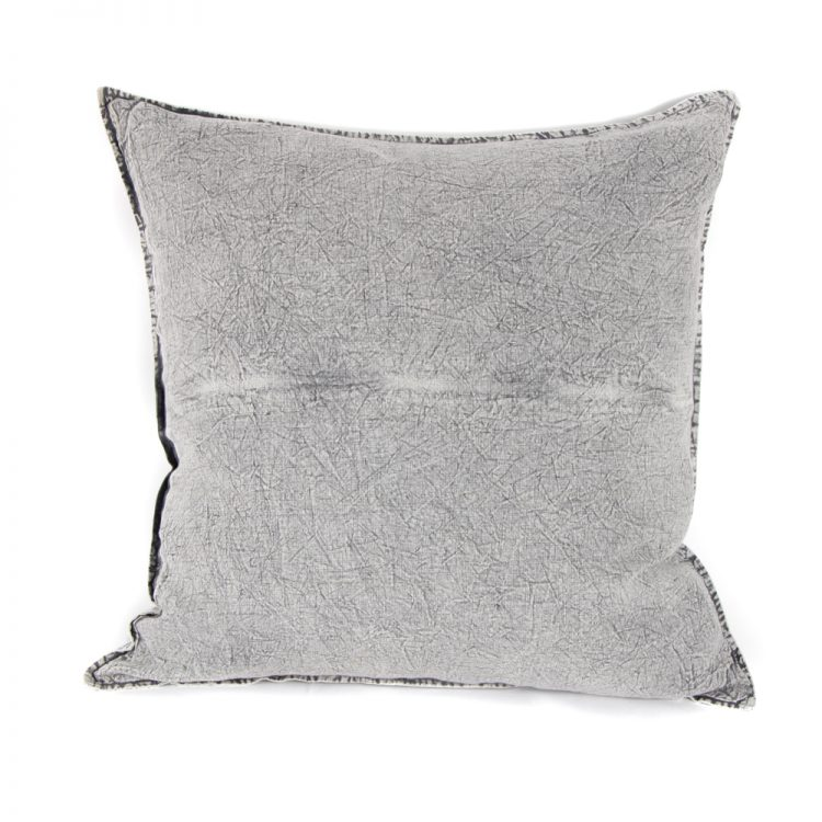 Washed grey linen euro pillow case | TradeAid