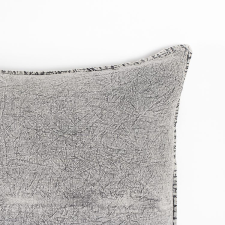 Washed grey linen euro pillow case | Gallery 2 | TradeAid
