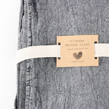 Queen washed grey linen duvet cover | Gallery 1 | TradeAid