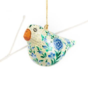 Pale yellow bird hanging | TradeAid
