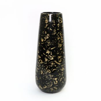 Black and gold lacquer vase | TradeAid