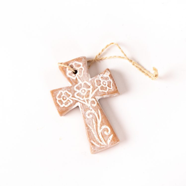 Clay cross floral pattern | TradeAid