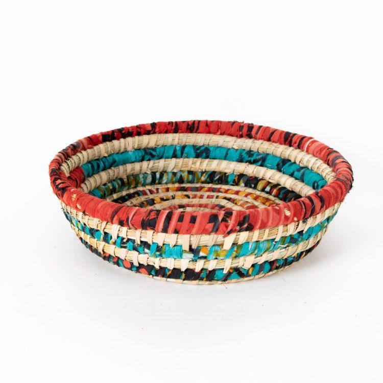 Colourful round basket   TradeAid