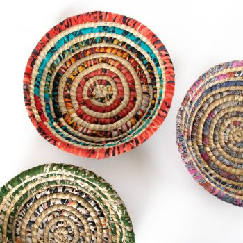 Colourful round basket   Gallery 1   TradeAid