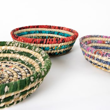 Colourful round basket   Gallery 2   TradeAid
