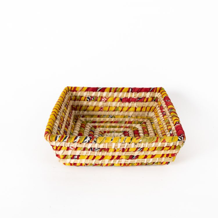 Colourful square basket | Gallery 1 | TradeAid