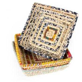 Colourful square basket | TradeAid