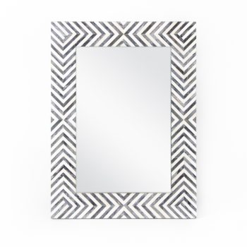 Black and white resin mirror | TradeAid