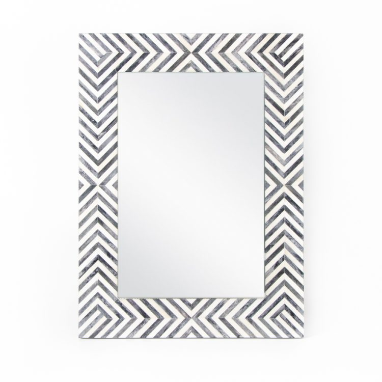 Black and white resin mirror   TradeAid